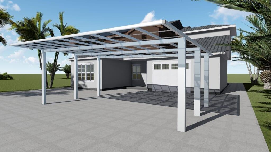 Free standing Double aluminum carport